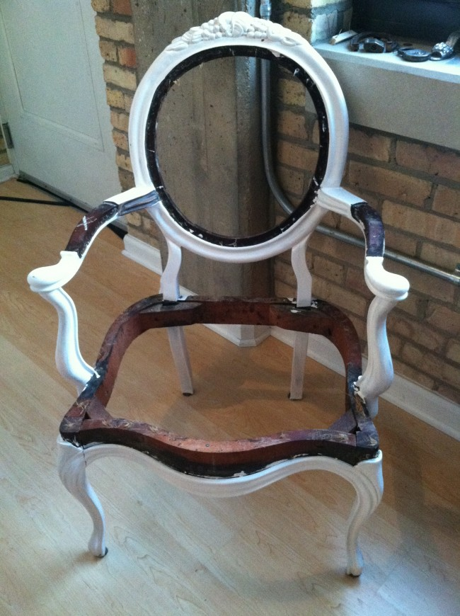 Finally ... - Reupholstering Antique Chair: Part 1 – There's No Place Like Home
