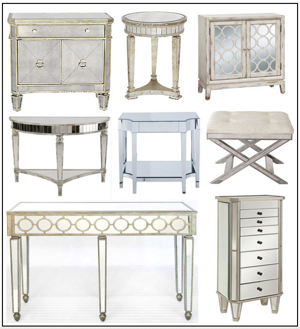 Zgallerie Side Chest/Overstock Distressed Mirrored ...