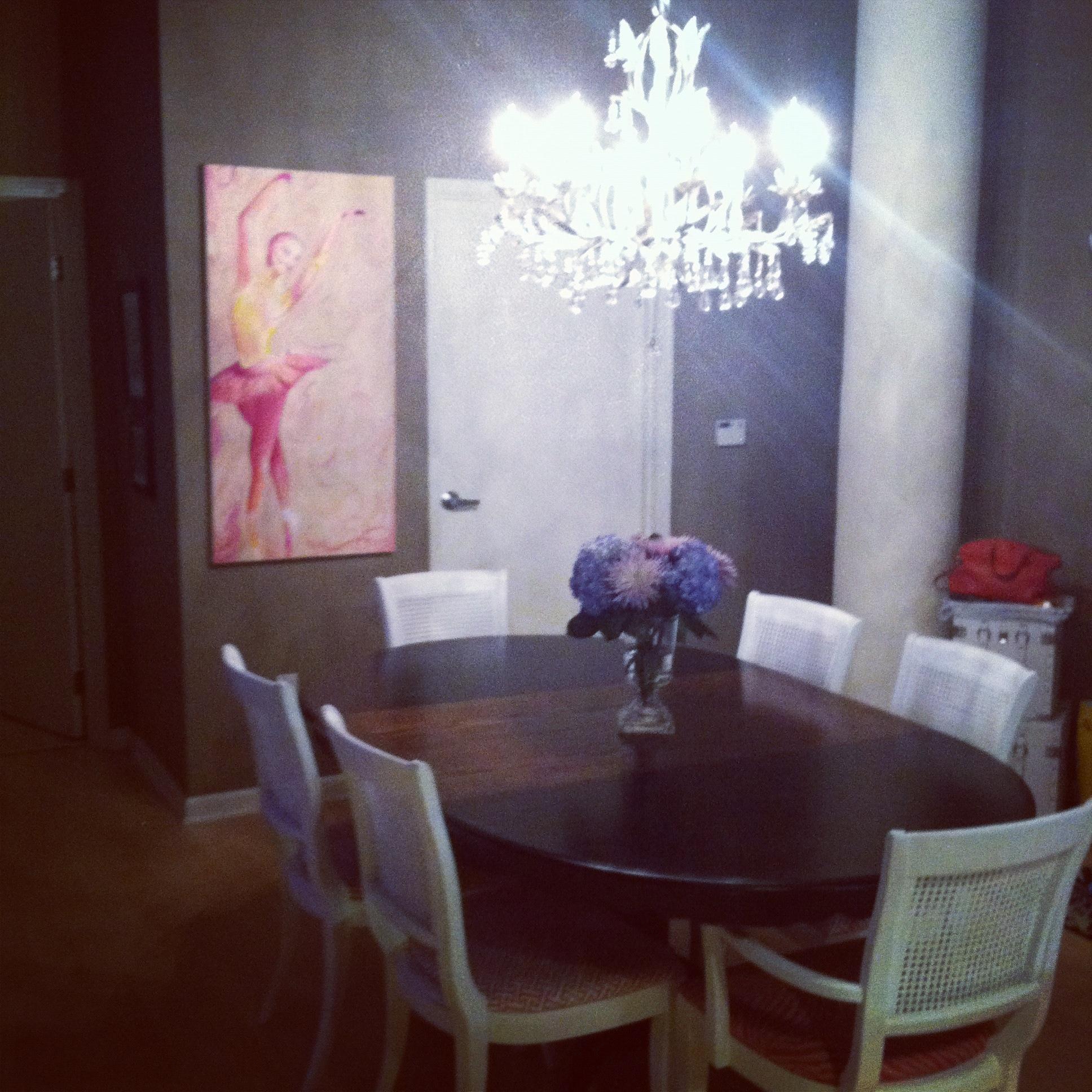 new chandelier!