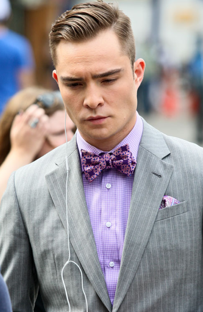 chuck bass in gray