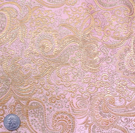 pink and gold paisley