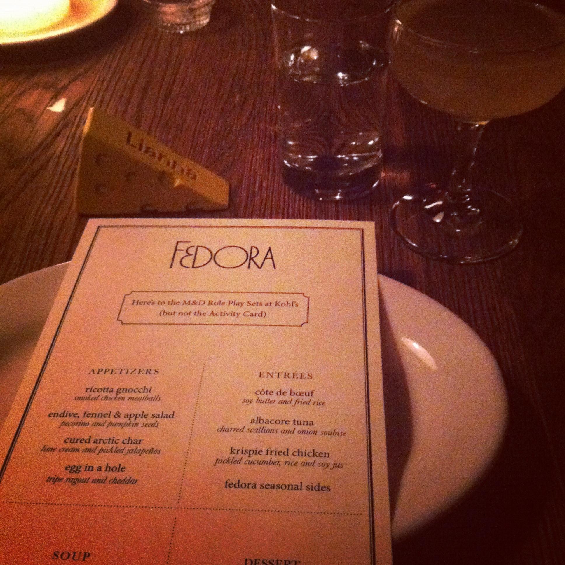 fedora menu