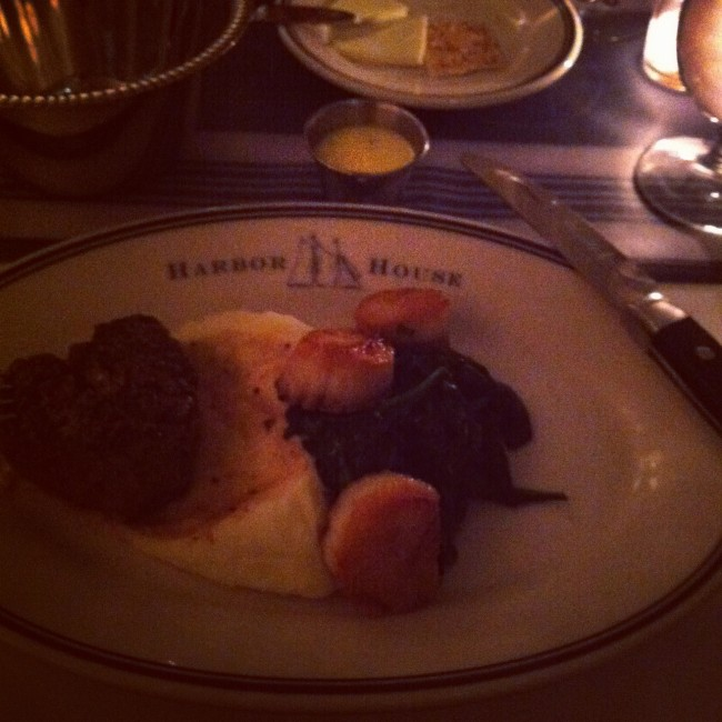 scallops and filet