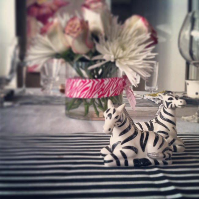 furbish zebra salt and pepper shakers