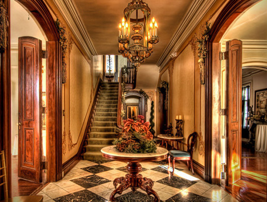 lobby of Briggs Mansion
