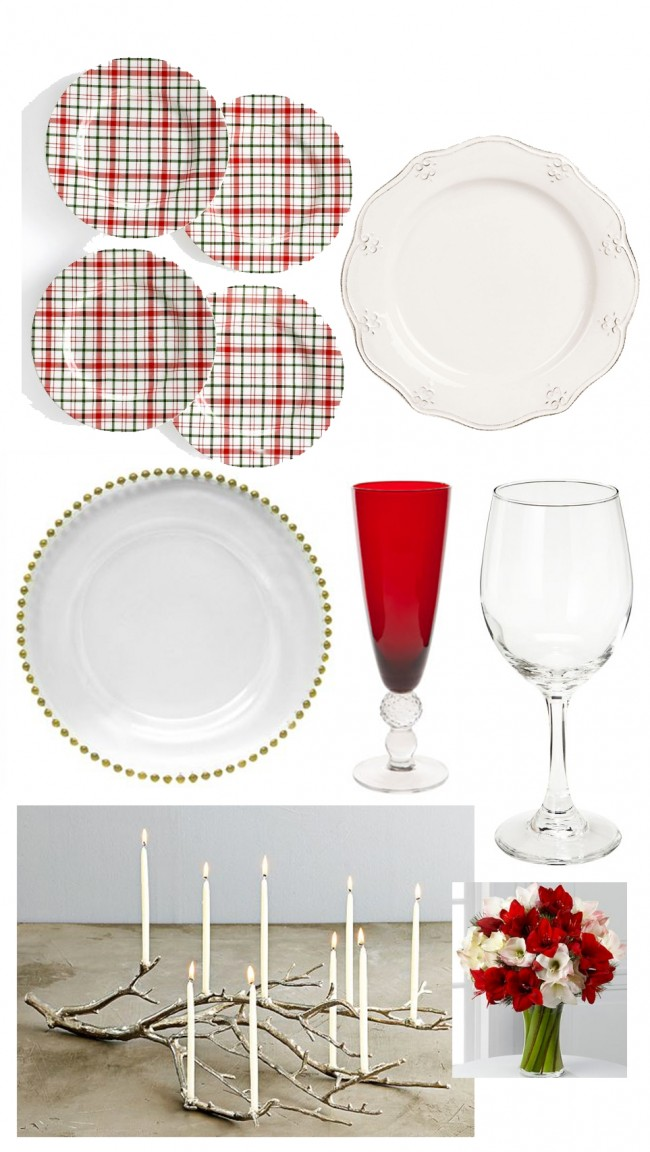plaid table setting roundup