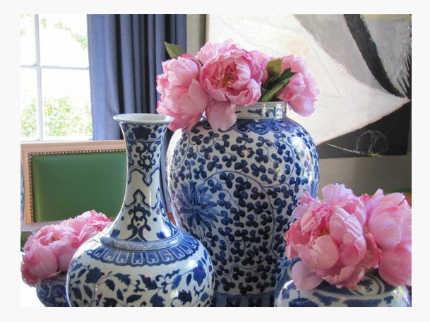 Ginger Jars and Pink Roses
