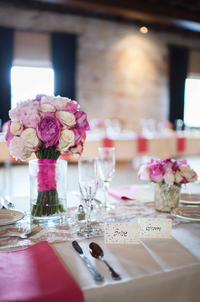 TNPLH: Hot Pink Wedding Flowers