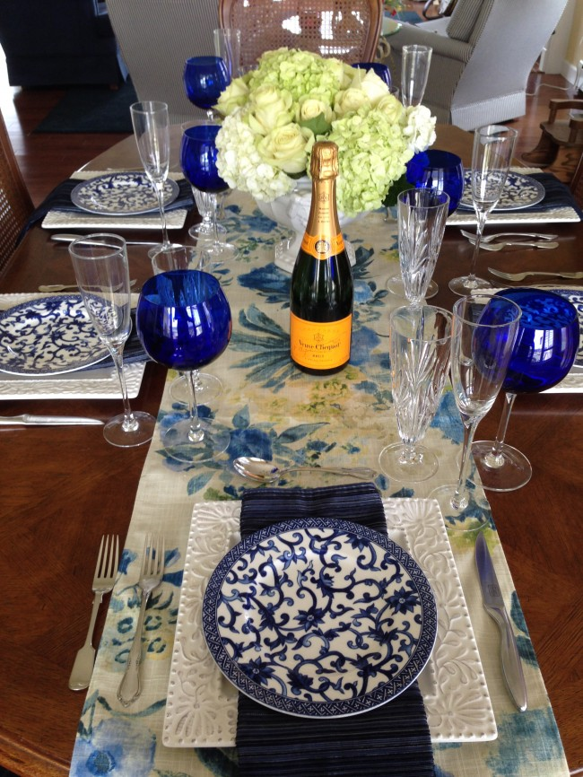 TNPLH:  Blue and White Table Seting