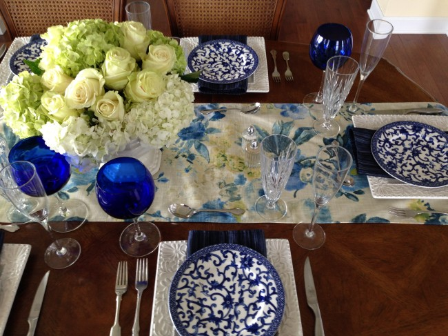 TNPLH: Blue and White Table