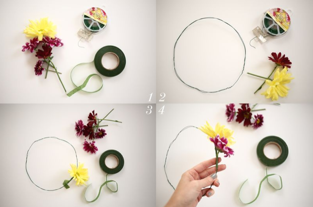 A Beautiful Mess Tutorial: How to make a flower crown