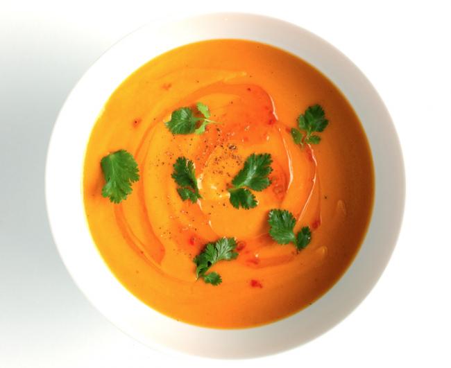 bon appetit carrot coconut soup