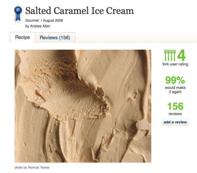 epicurous salted carmel ice cream