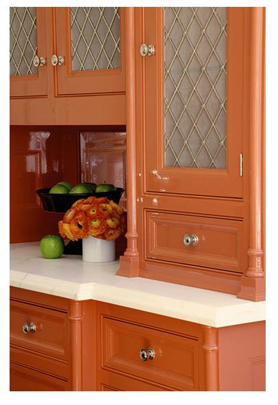 orange cabinet inspiration