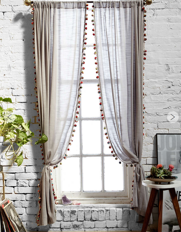 urban outfitters pom pom curtains
