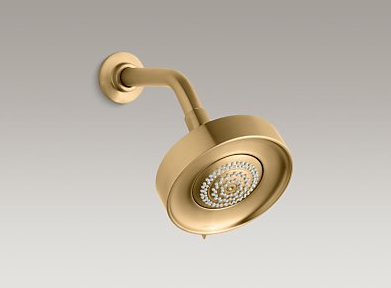 Kohler Purist Showerhead in Brushed Gold