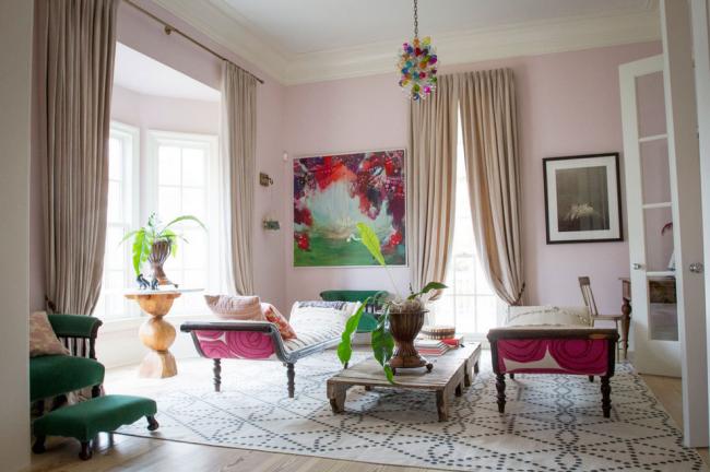 Lonny Pale Pink Room