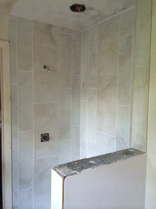 TNPLH: Tile Shower Progress