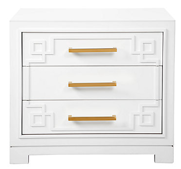 Zgallerie York 3 Drawer Night Stand
