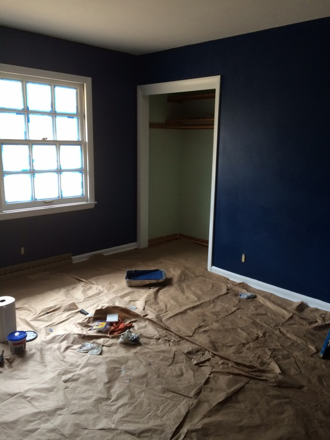 Little Yellow House Refresh Navy Bedroom: After Paint Job
