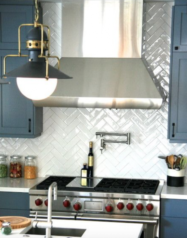 kitchen herringbone