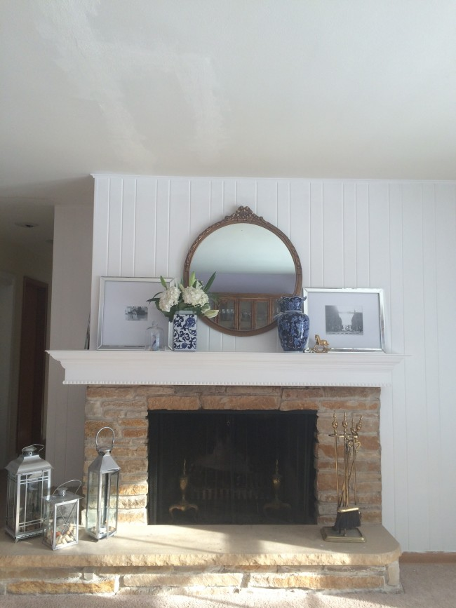Little Yellow House: DIY Mantle Reveal 1