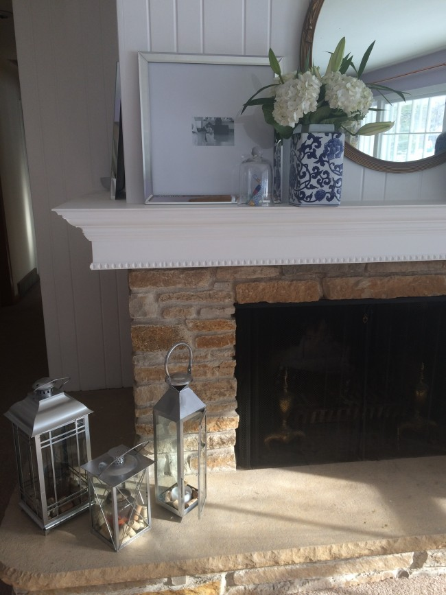 Little Yellow House: DIY Mantle Reveal 2