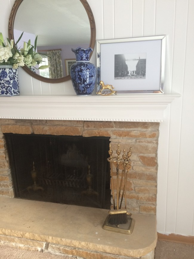 Little Yellow House: DIY Mantle Reveal 3
