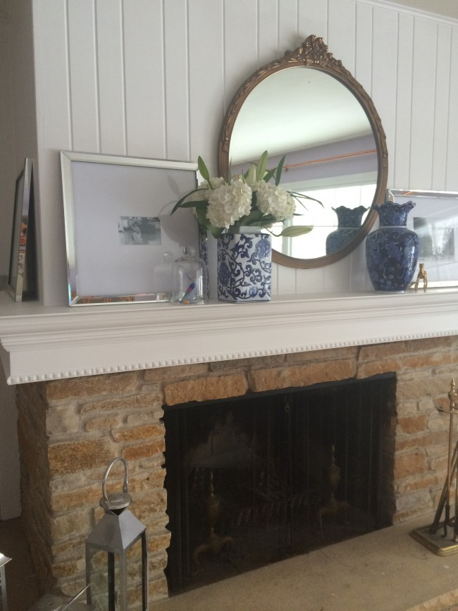 Little Yellow House: DIY Mantle Reveal 4