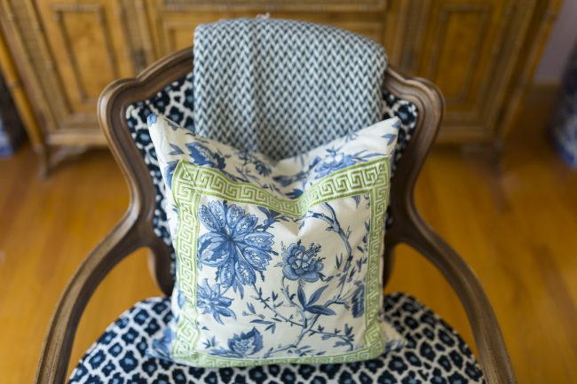 TNPLH: Custom Pillows Navy and Green